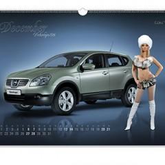 Nissan. Перекидной календарь А3. Альбомный. На ригеле.